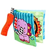 friendGG Picture Cognize Cloth Book Baby Kids Boys Girls Intelligence Development Educational Toys Tool Activity Toy Infant Wisdom Puzzle Toddlers Game (Multicolor, 12x12cm)