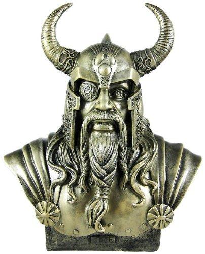 PTC 11.75 Inch King Odin Warrior God Head and Bust Statue Figurine