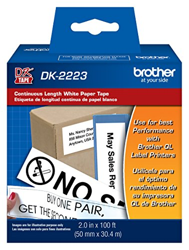 Brother Continuous Paper Tape (Brother Printer Continuous Length White Paper Tape (DK2223))