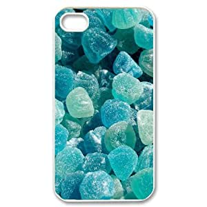Sexyass Stone IPhone 4/4s Cases Blue Stones for Teen Girls Protective, Cute Iphone 4s Case, [White] WANGJING JINDA