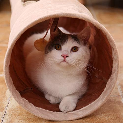UTOPIAY Long Cat Tunnel with 2 Holes Collapsible Tunnel For Small Pet Puppy Kitty Rabbit Ferrets