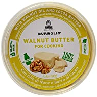 Pariani Burrolio - Vegan Butter Spread for Cooking and Baking Made with Nut Oil and Cocoa Butter 3.53 Ounce (Walnut)