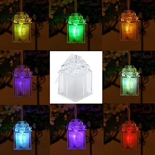 Environmentalist Halloween Costume (Lights & Lighting - Cute Led Color Changing Christmas Box Light For Gift Home Party Decor - 1PCs)