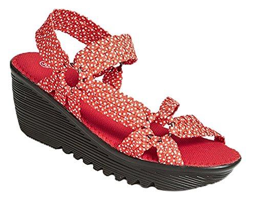 Polsino Rosso Di Cristallo Sandalo Donna Bernie Mev
