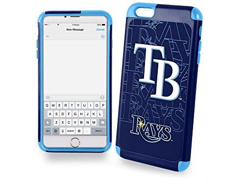 MLB Tampa Bay Rays TPU Dual Hybrid AI6 Cover (2 Piece), Large, Blue