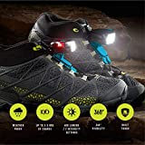 Top Runner Safety Gear and Accessories – LED Clip for Running, Walking, Hiking, Jogging, Cycling – Easy, Secure Install – Night Trek X Tactical Shoe Lights – 1 Pair (2pcs) (Dark Gray)