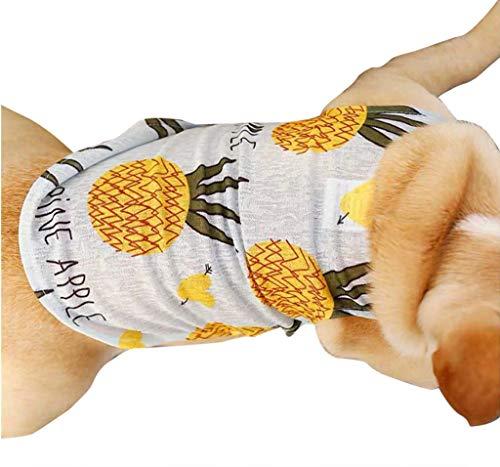 AHAYAKU Summer Pet Dog Thin Section Cool Vest Law Fighting Keji Bully Cute Pet Clothing 2019 Summer Gray