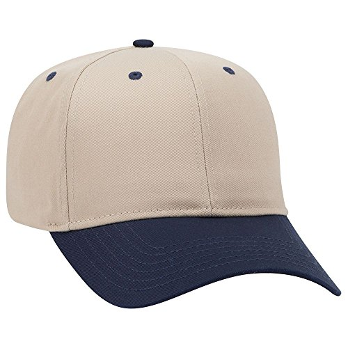 (OTTO 6 Panel Pro Style Cotton Blend Twill Cap - NVY/KHA)