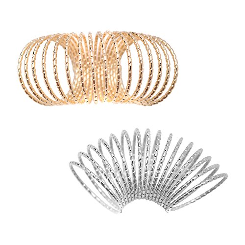 Diamond Cut Spring Warped Wire Knuckle Ring
