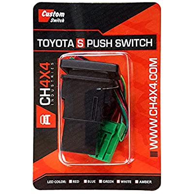 CH4X4 Small Push Switch for Toyota 4Runner - Rear Lights Symbol - Red LED: Automotive