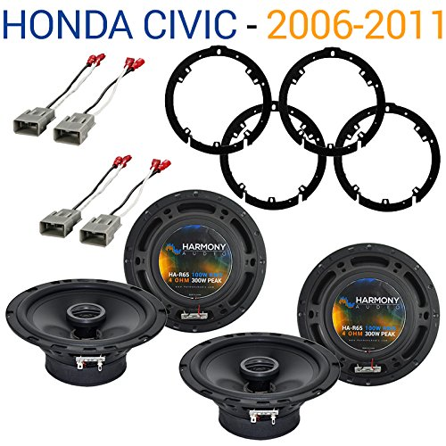 Honda Civic 2006-2011 Factory Speaker Replacement Harmony (2) R65 Package - Speaker Replacement Factory