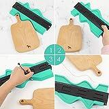 Contour Gauge,10 inch Plastic Profile Contour Gauge Duplicator Irregular Shape Copy Template Tool Multi-angle Measuring Ruler for Corners and Contoured Wood Marking