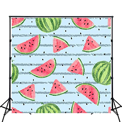 HUAYI Photography Background Newborn Photography Props Baby shower PhotoCall Birthday Photo Booth Props Party Banner decorations watermelon Backdrop XT-6623