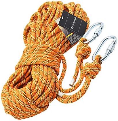 アウトドアクライミングロープ、スタティックロッククライミング機器高強度アクセサリー火災避難安全懸垂下降ロープ11m,a,50m