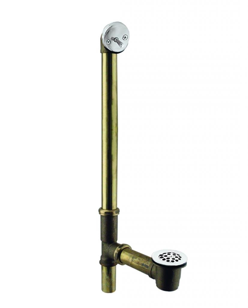 Westbrass 7921817CP 1-1/2in 17ga Brass Bathwast Trip Lever by Westbrass