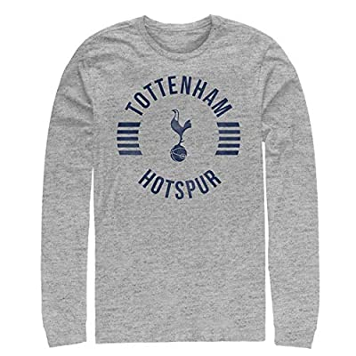 Tottenham Hotspur Football Club Men's Team Striped Logo Long Sleeve T-Shirt