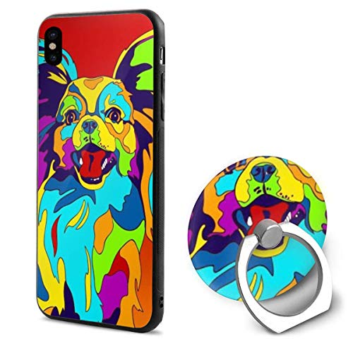 Multi-Color Papillon iPhone X Mobile Phone Shell Shell Ring Bracket Cover Cases