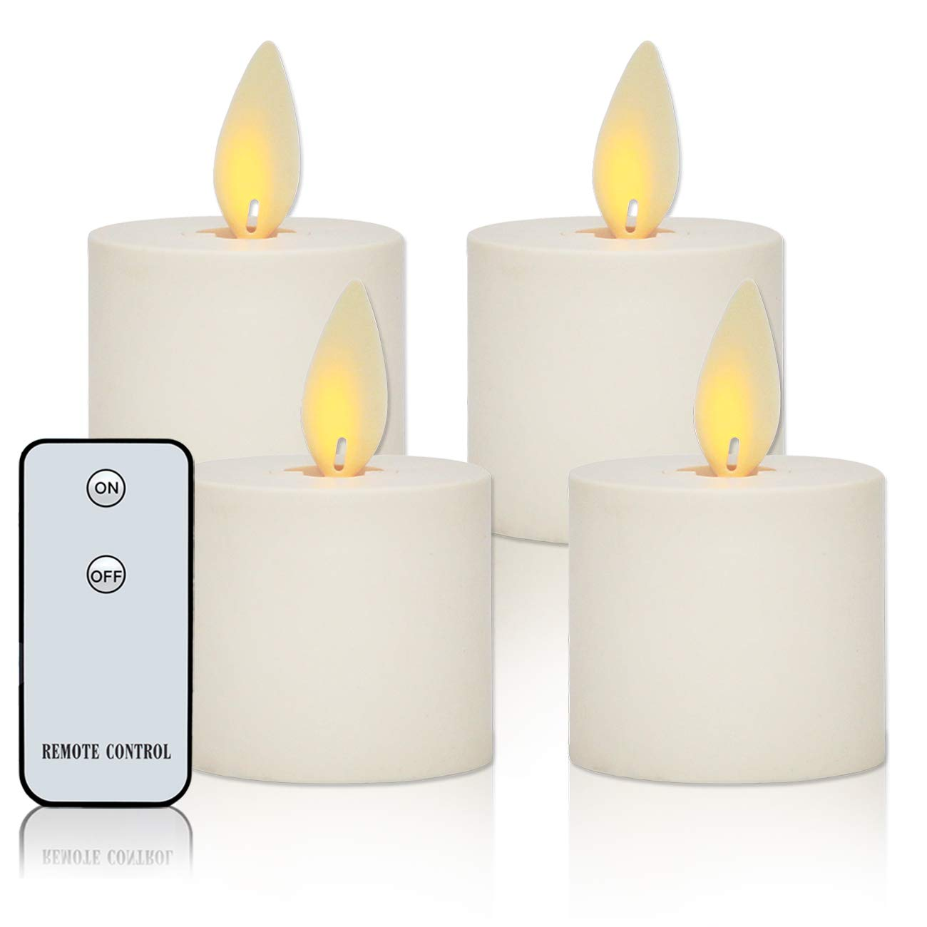 Flameless Tea Candles LED Tea Lights with Remote Control Dancing Flame Battery Operated Tealights