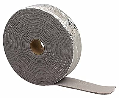 M-D Building Products 2378 Foil Backed Pipe Wrap, 1/8-Inch-by-2 by 15 Feet, Black/Silver