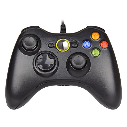 - Xbox 360 Wired Controller, UKYLIN Xbox 360 Wired USB Gamepad for PC Windows & Xbox 360 Console (Black)