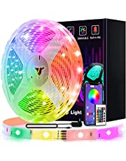 Led Lights, L8star 21.3ft/6.5m RGB Led Lights Strip for Bedroom with Bluetooth and Remote Controller Led Light Strips Sync to Music Apply for TV