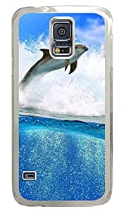 Dolphin Clear Hard Case Cover Skin For Samsung Galaxy S5 I9600