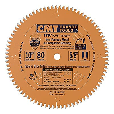 "CMT P10080N 5/8"" Bore ITK Plus Non-Ferrous Metal, 10"" x 80 Teeth"