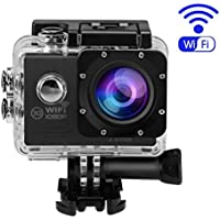Action Camera,OUTAD 4K Ultra 1080P HD WiFi Waterproof Sports Camcorder Video Camera 170 Degree Wide Angle Lens with 2 Rechargeable Battery LCD Screen for Underwater Outdoor Activities