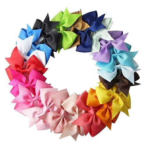 10pcs Girls Ribbon Bow Hair Clip Kids Alligator Clips Party Hair Accessories