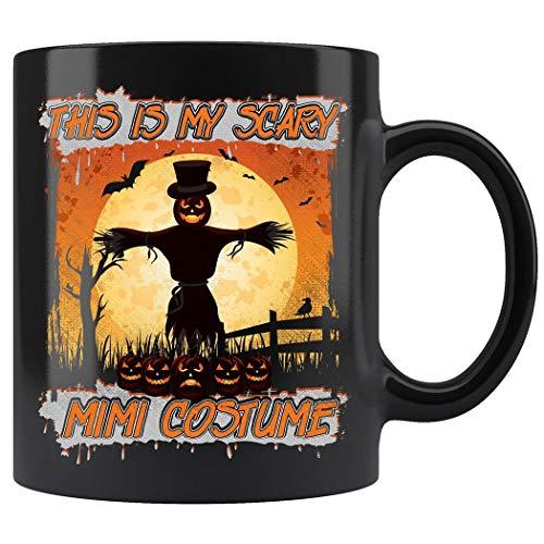 This Is My Scary Mimi Costume Halloween Pumpkin Mug Coffee Mug 11oz Gift Tea Cups 11oz ()