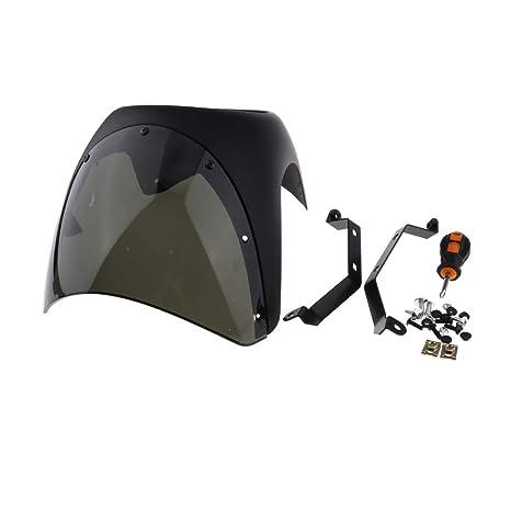 perfeclan Cubierta Delantera para Faro Carenado 7 en Custom Moto Cafe Racer - Tipo 1
