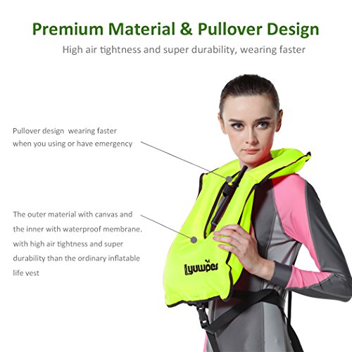 Lyuwpes Inflatable Snorkel Vest Adult Snorkeling Jackets Free Diving Swimming...
