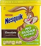 NESTLE NESQUIK No Sugar Added Chocolate Flavored Powder (Pack of 10)
