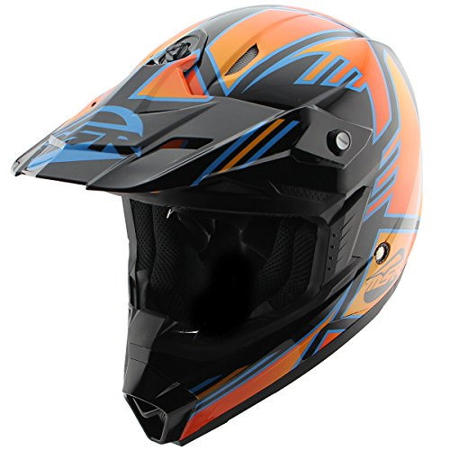 Answer AP-867 Racing MSR Nova Syncron Black/Orange Motocross Helmet - 2X-Large -  Answer Racing, AP-867-BLK-ORG-15762176