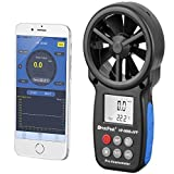 Holdpeak 866B-APP Wireless Bluetooth Digital Anemometer with Mobile APP or USB - The Best Wind Speed Meter Measures Wind Speed + Temperature + Wind Chill with Backlight(CE,ISO,ROHS,GMC)