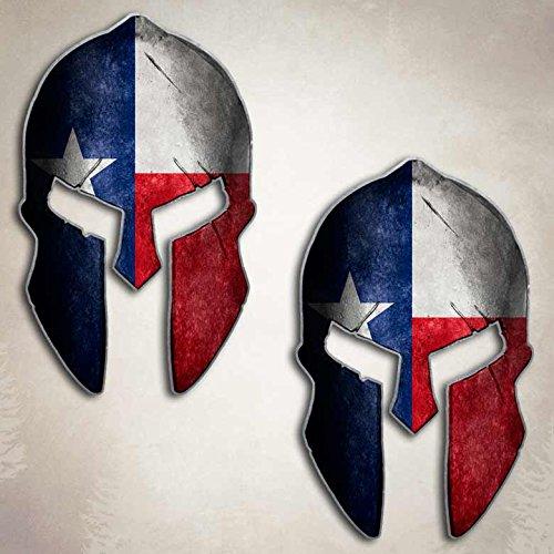 Texas Flag Spartan Helmet Decal Set