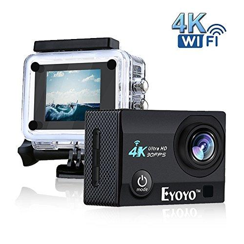 Boblov SJ9000 4K HD WiFi Impermeable Cámara de Acción Deportiva con 2.0 'LCD 16MP DVR Videocámara video de Buceo+ Batería...