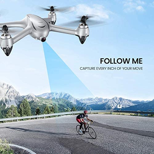 Potensic D80 GPS Drone with Camera for Adults, 2K FHD Camera, 2 Batteries 40 Mins Quadcopter with Brushless Motor, Auto Return Home, Follow Me, Long Control Range, Includes A Carrying Case-Sliver 51nXVVAiMjL