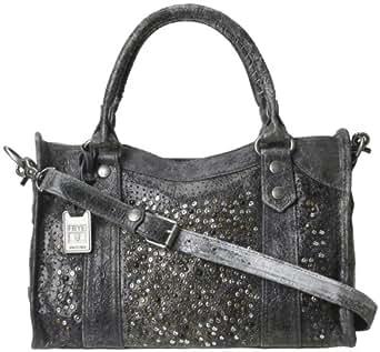 FRYE Deborah Glazed Vintage Satchel Handbag,Slate,One Size