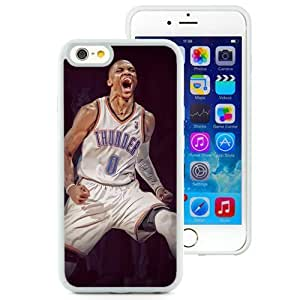 Wishing Personalized Iphone 6 Case Design with Russell Westbrook Iphone 6th 4.7 Inch TPU White Cell Phone Case