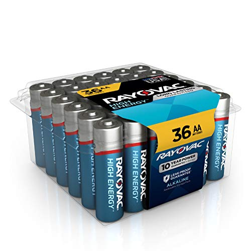 Rayovac Alkaline AA Batteries, 815-36PPF, 36-Pack with Recloseable Lid ()
