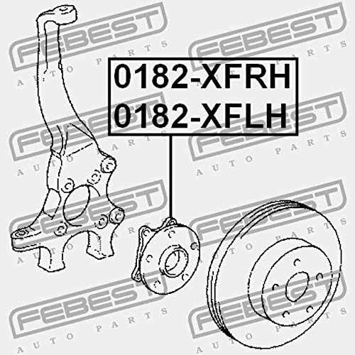 0182-XFLH Febest CUBO ANTERIOR IZQUIERDO