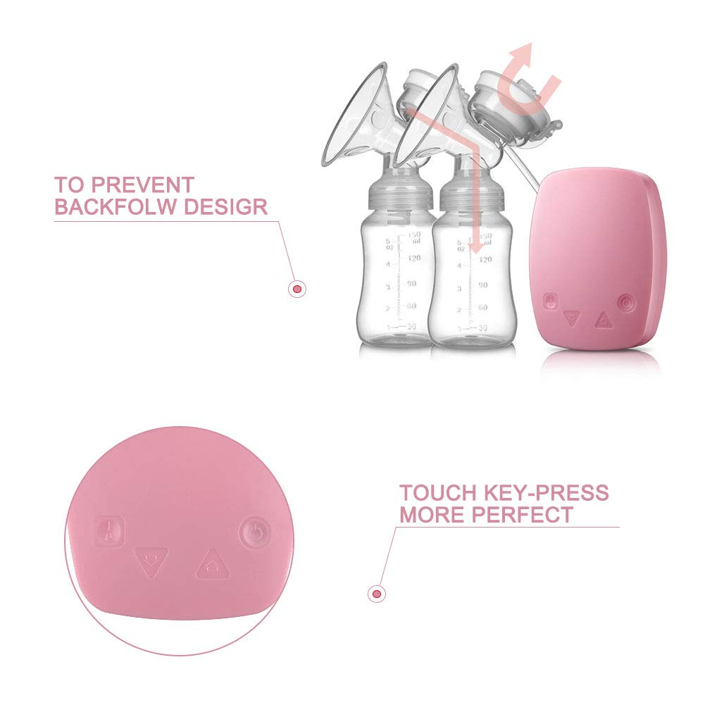 HALOViE Tire-lait Electrique Double Pompe dallaitement Chargement USB Grande Capacit/é Pompe Allaitement 2 Modes Pompe de Sein Automatique Massage Postpartum Prolactine Sans BPA