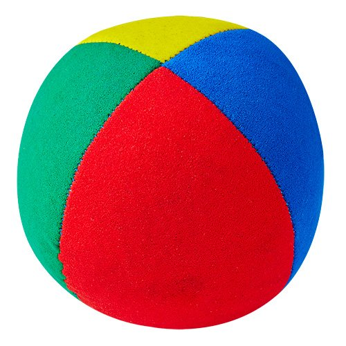 Jonglierball: Henrys Beanbag Superior (Velours) 67 mm, vierfarbig (Stückpreis)