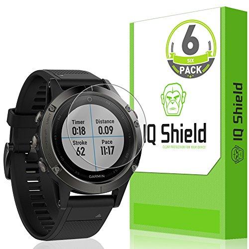 IQShield Screen Protector Compatible with Garmin Fenix 5 (Garmin Fenix 5 Plus)(6-Pack) LiquidSkin Anti-Bubble Clear Film