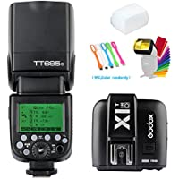 Godox TT685O 2.4G GN60 TTL Flash Speedlite High Speed Sync 1/8000s + X1T-O Wireless Flash Trigger Transmitter for Olympus Panasonic camera+Diffuser & Filter +USB LED Free Gift