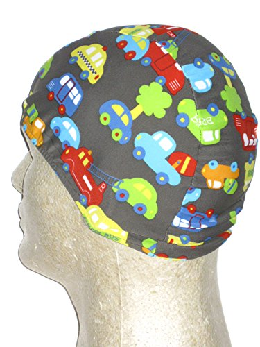 Cars & Trucks Print Toddler Lycra Swim (Print Spandex Cap)