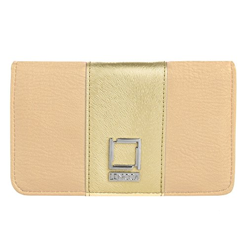 Beige/Gold Envelope Clutch for Xolo Phones