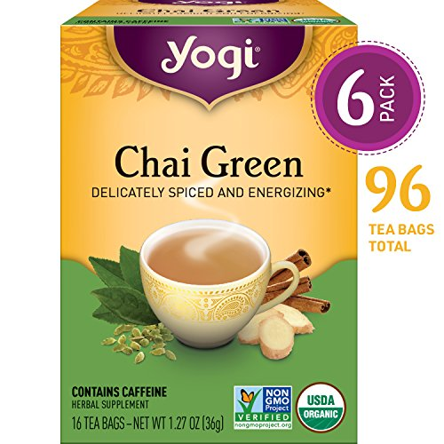 Yogi Tea Chai Green Tea 16 ea (pack of (6 Organic Green Teas)
