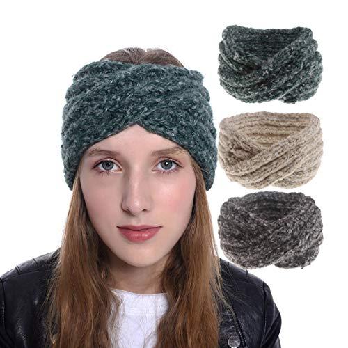 Headband Knit Warm Mohair...
